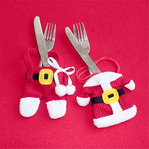 ATOLY 2 Piece Set Xmas Table Knife Set Small Clothes Cutlery Bag Christmas Supplies Christmas Cutlery Set Christmas Tree Christmas Costume Pendant