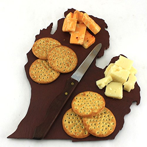 Custom Michigan Slate Cutting Board Serving Tray or Cheese Board- Personalized with Laser Engraving