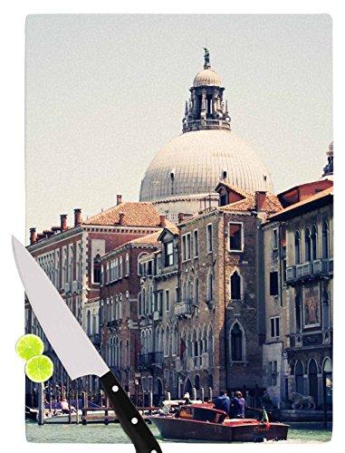 KESS InHouse SC4069ACB01 Sylvia Coomes Venice 5 Travel Vintage Cutting Board 115 x 825 Multicolor
