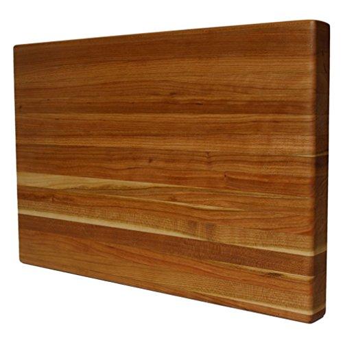 Kobi Blocks Cherry Edge Grain Butcher Block Wood Cutting Board 8 x 12 x 1
