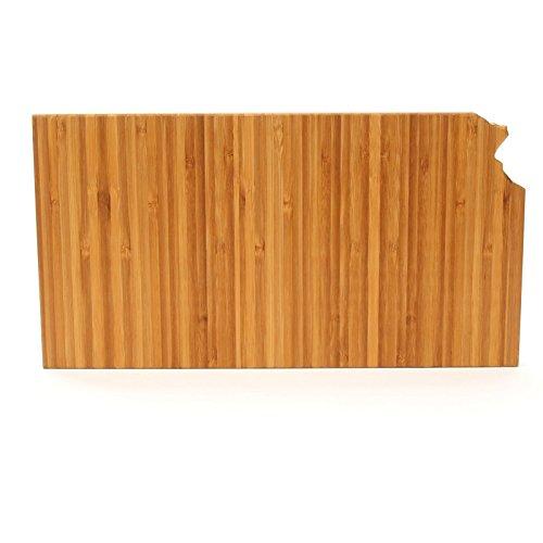 The Cutting Board Company State Shaped Cutting Boards Amber Bamboo Kansas