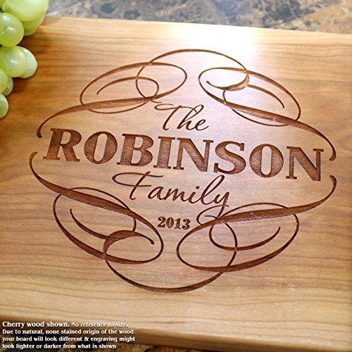Decorative Swirl Personalized Engraved Cutting Board- Wedding Gift Anniversary Gifts Housewarming GiftBirthday Gift Corporate Gift Award 101