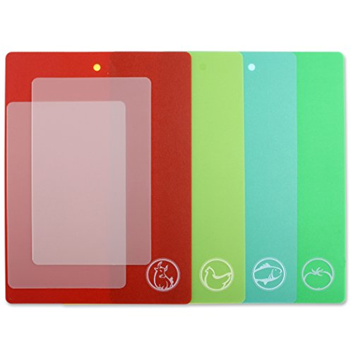 Dexas Chopmat Flexible Cutting Board Set of 6 Multicolor