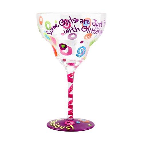 "Top Shelf Fabulous"" Hand Painted Margarita Glass"