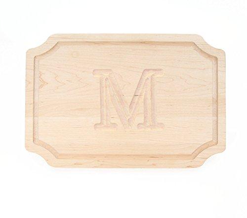 BigWood Boards 300-M Cutting Board Monogrammed Wedding Gift Cutting Board Small Cheese Board Maple Wood Serving Tray M