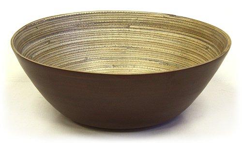 Simply Bamboo Matte Espresso Bamboo Bowl