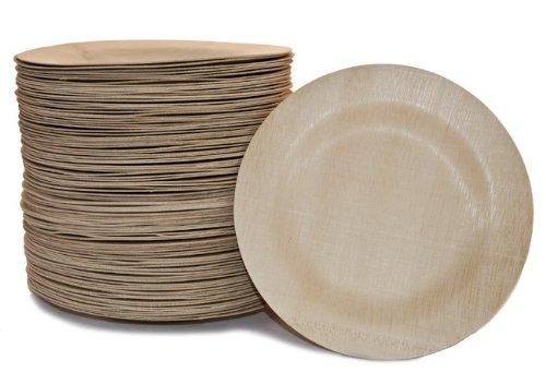 Bambu Veneerware 11 Bamboo Round Plate 100CS