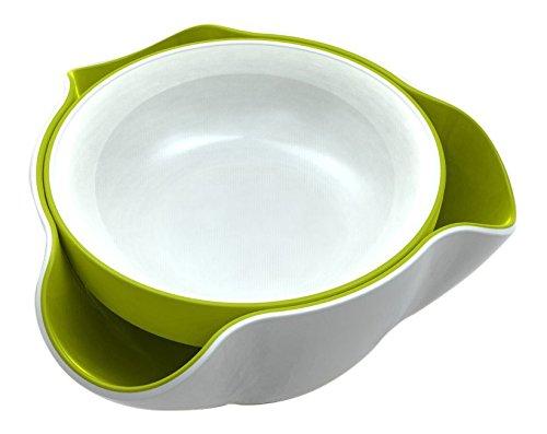 Joseph Joseph DDWG010GB Double Dish Pistachio Bowl and Snack Serving Bowl GreenWhite