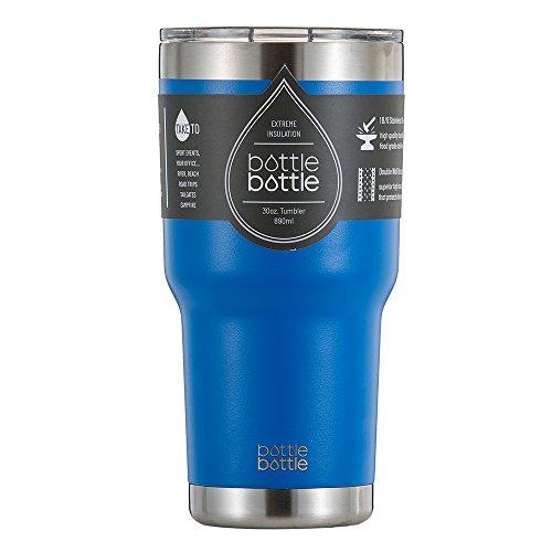 Bottlebottle 30 oz Insulated Tumbler Cup Stainless Steel Travel Coffee Mug Glacier Blue