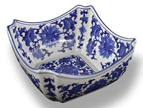 Blue and White Square Octagon Serving Bowls Salad Bowls Fruit Bowls 9