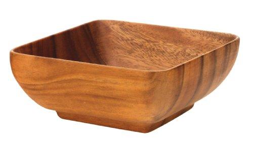 Pacific Merchants Acaciaware 6- by 6- by 3-Inch Acacia Wood Square Bowl