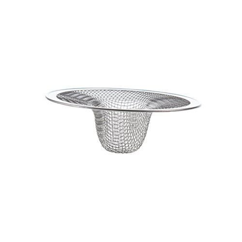Drainer Basin Filter BSGSH Stainless Steel Kitchen Sink Strainer Mesh Basket Strainer Durable Design - 275 inches Diameter Silver