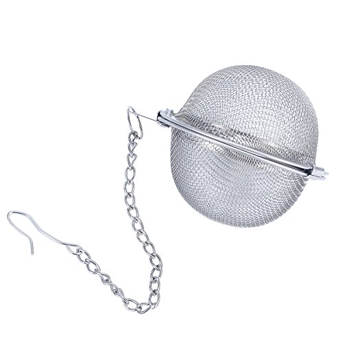 Bluesnow Stainless Steel Mesh Tea Ball Tea Infuser Strainers with Chain for Loose Leaf Tea Cups Mugs Teapots