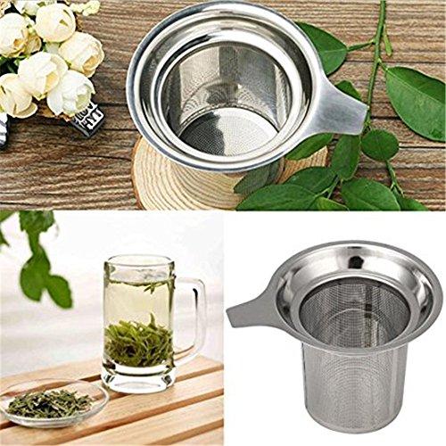 Excellentadvanced Stainless Steel Mesh Tea Infuser Reusable Strainer Loose Tea Leaf Spice Filter