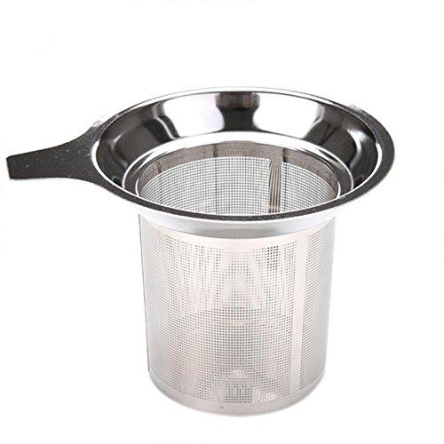 Ioffersuper Stainless Steel Mesh Tea Infuser Reusable Strainer Loose Tea Leaf Spice Filter