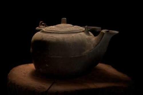 Cast Iron Tea Kettle by C Thomas McNemar - 30 x 20 Premium Canvas Print