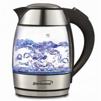 Brentwood Appliances KT-1950BK Tempered Glass Tea Kettles 18-Liter Black