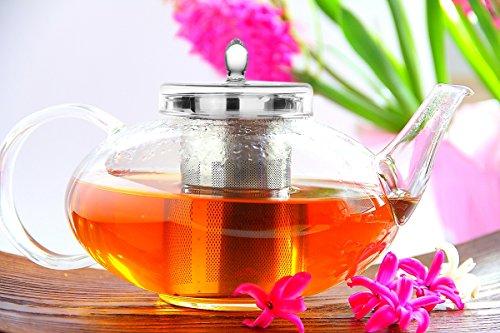 Glass Teapot Harmony 42oz1242ml No Drip Lead Free Special glass by Tea Beyond