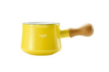 Dansk Kobenstyle Bistro Enamel Butter Warmer Color Yellow