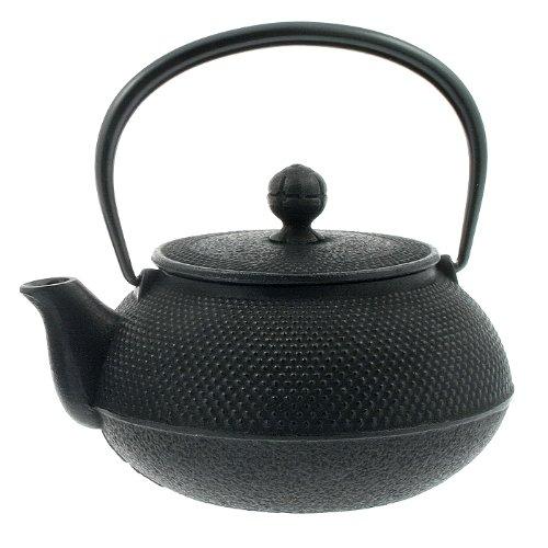 Iwachu 29-Ounce Japanese Iron Hobnail Tetsubin Teapot Large Black