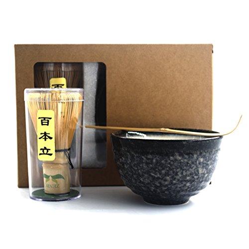 Complete Start Up Matcha Tea Kit - Retro Japanese Natural Bamboo Matcha Whisk  Chasen  - Scoop - Matcha Bowl - Whisk Holder - Ceremony Matcha tea Sets