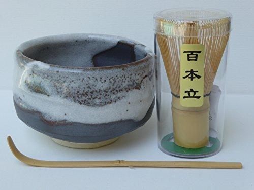 YokohamaUSA Matcha Bowl Set SHINSETSU Bamboo Scoop 100 Whisk Made in Japan