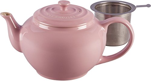 Le Creuset Stoneware Large Teapot with Stainless Steel Infuser Pink