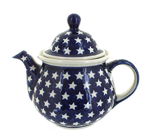 Polish Pottery Stars Large Teapot
