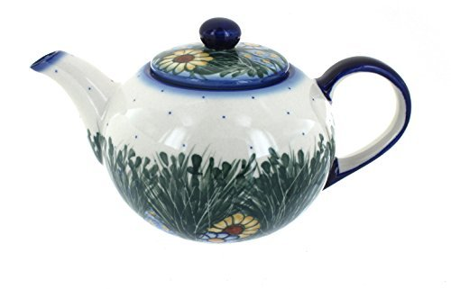 Polish Pottery Wild Flowers Large Teapot
