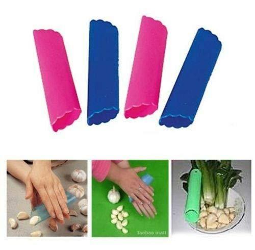 FidgetKute 4 pcs Magic Silicone Garlic Peeler Peel Easy Useful Kitchen Cooking Tool New Show One Size