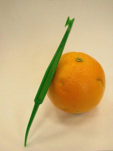 S-shine Citrus Peeler in Bright Orange Color - Replaces Tupperware Peeler 6pcs  Fresh Green