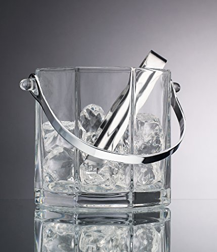 Home Essentials Beyond 9454 30 oz Paneled Ice Bucket with Tongs