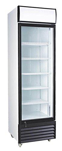127 Cubic Ft Glass Door Upright Display Beverage Cooler 360 Liter Refrigerator