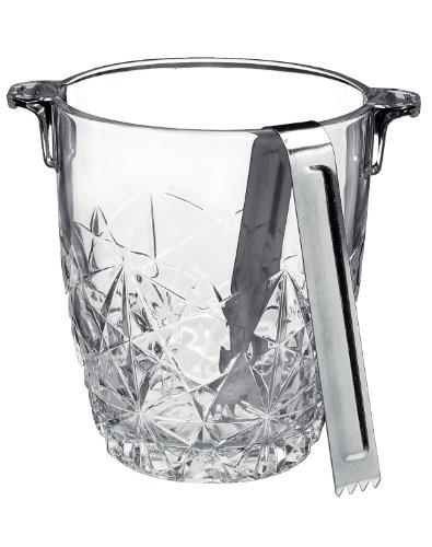 2 X Bormioli Rocco Dedalo Ice Bucket with Tongs