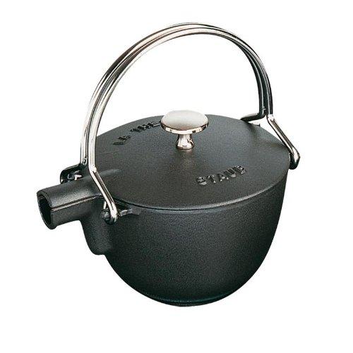 Staub 1 Quart Round Teapot Black