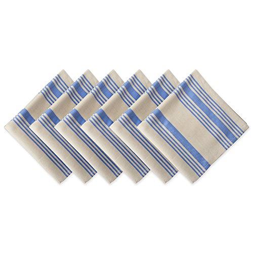 DII 100 Cotton Oversized Basic Everyday 20x20 Napkin Set of 6 Sailor Stripe