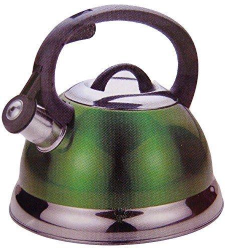Kitchenworks 25 Qt Whistling Tea Kettle in Green