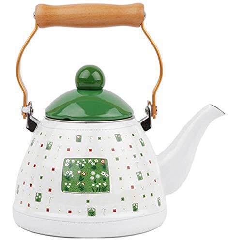 Redcrown Enameled Hot Water Tea Kettle Stovetop Teakettle 12 Quart Green