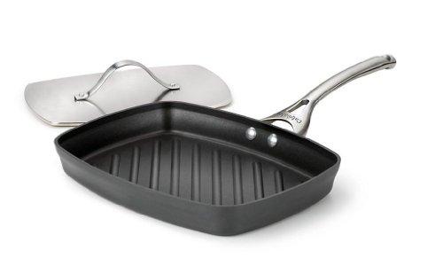Calphalon Contemporary Hard-Anodized Aluminum Nonstick Cookware Panini Pan and Press 13 34-inch Black