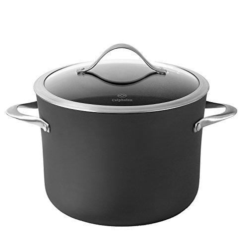 Calphalon Contemporary Hard-Anodized Aluminum Nonstick Cookware Stock Pot 8-quart Black