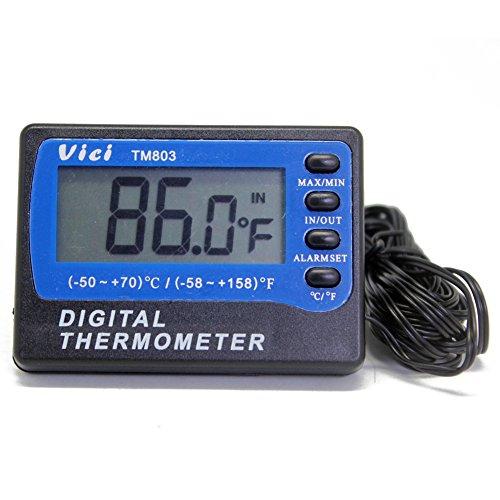 TM803 Digital Thermometer Fridge Freezer thermometer 2 sensors ºC ºF ± 1ºC 3m cable min max