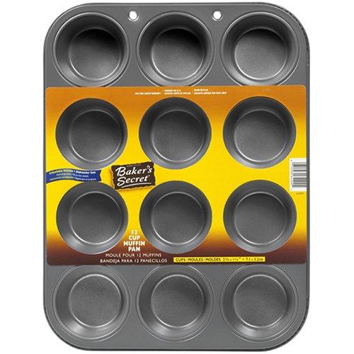 Bakers Secret Basics Nonstick 12-Cup Muffin Pan