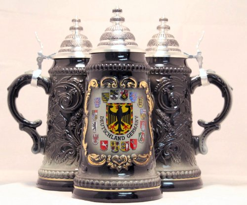 Pinnacle Peak Ppt-019-0002 Deutschland Germany Eagle With State Crests German Beer Stein .125l