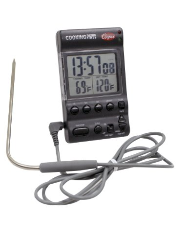 Cooper-Atkins DTT361-0-8 Digital Cooking Thermo-Timer with Alarm and Thermometer Probe -32 to 392 degrees F Temperature Range