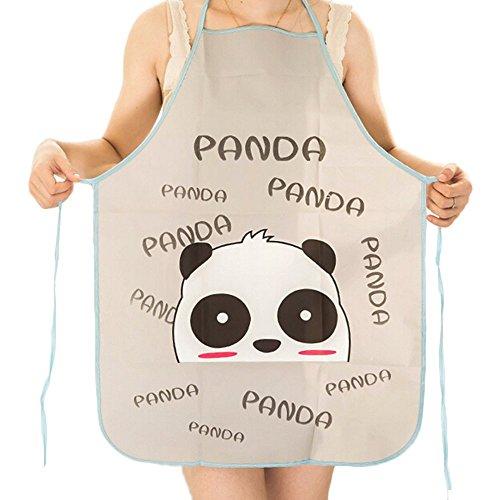 Tailbox Set of 2 Cute Panda Kitchen Bib Apron – Women or Children Waterproof Cartoon Chef Aprons for Cooking 20 × 28