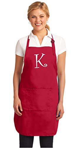 PERSONALIZED Apron Custom Printed Monogrammed Aprons BROAD BAY Red
