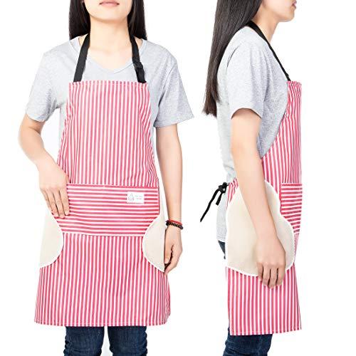 Waterproof Apron Erase Hand Cooking ApronBBQ Apron Adjustable Neck Belt Apron