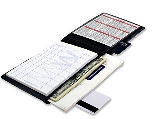 "Original Waiter Wallet  Restaurant Waitstaff Organizer Book  Fits Waitress Waiter Aprons  4¾ x 6¾"" Black  Includes Formatted 4"" x 6"" Server Guest Order Pad  Since 2009"
