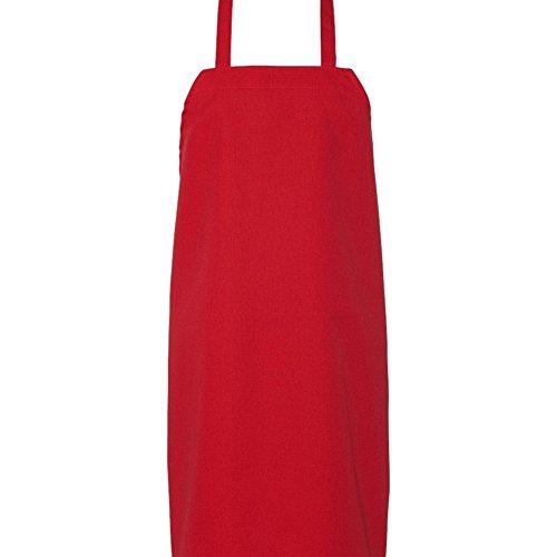 Bib Aprons-red-12 1dz Piece Pack-new Spun Poly-commercial Restaurant Kitchen