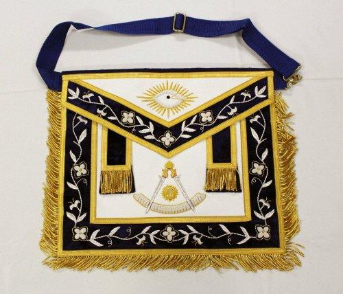 Gold Stock Past Master Freemason Masonic Leather Apron